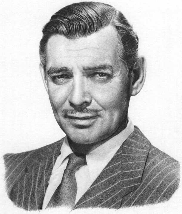 Tipi di Baffi - Clark Gable, uomo vero che ha lasciato il cinema per la guerra
