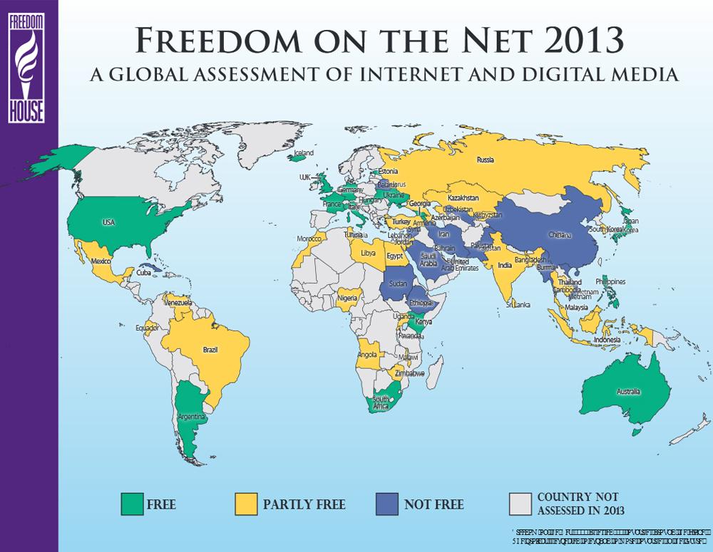 Freedom House - quali sono i paesi liberi in internet
