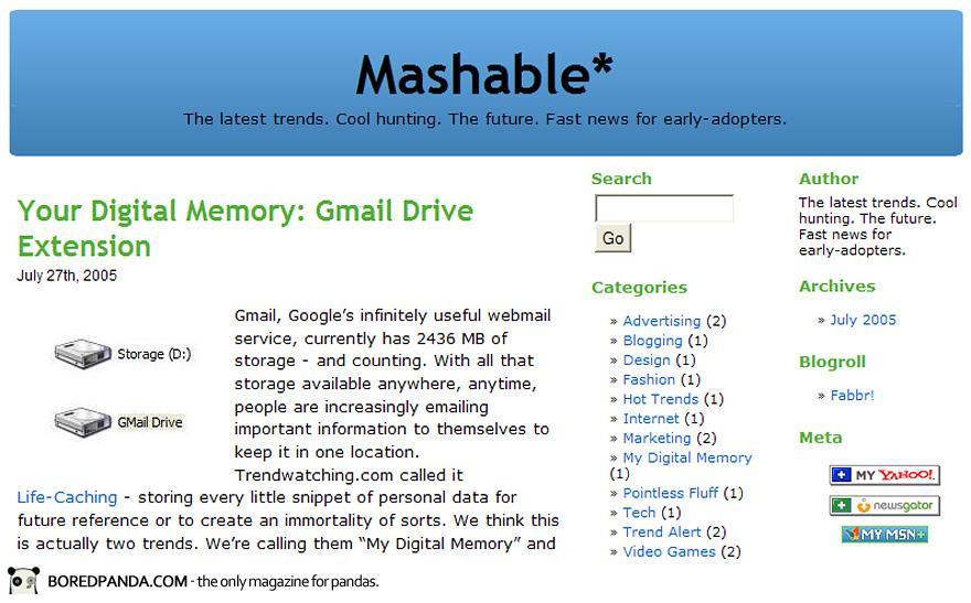 Mashable.com (2005)