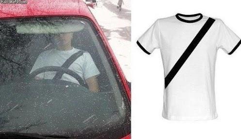 Il tipo che ha inventato la maglietta con il disegno della cintura di sicurezza era un genio prima di morire in un incidente