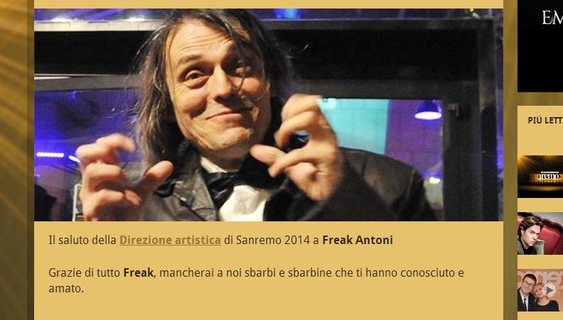 Guardare Sanremo - Freak
