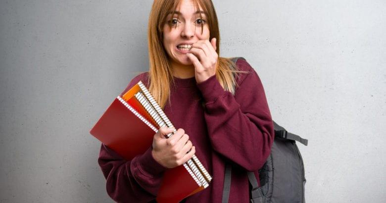 esame di maturità studente ansioso