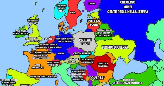 La mappa di che tipo di vacanza vi aspetta nei vari paesi europei
