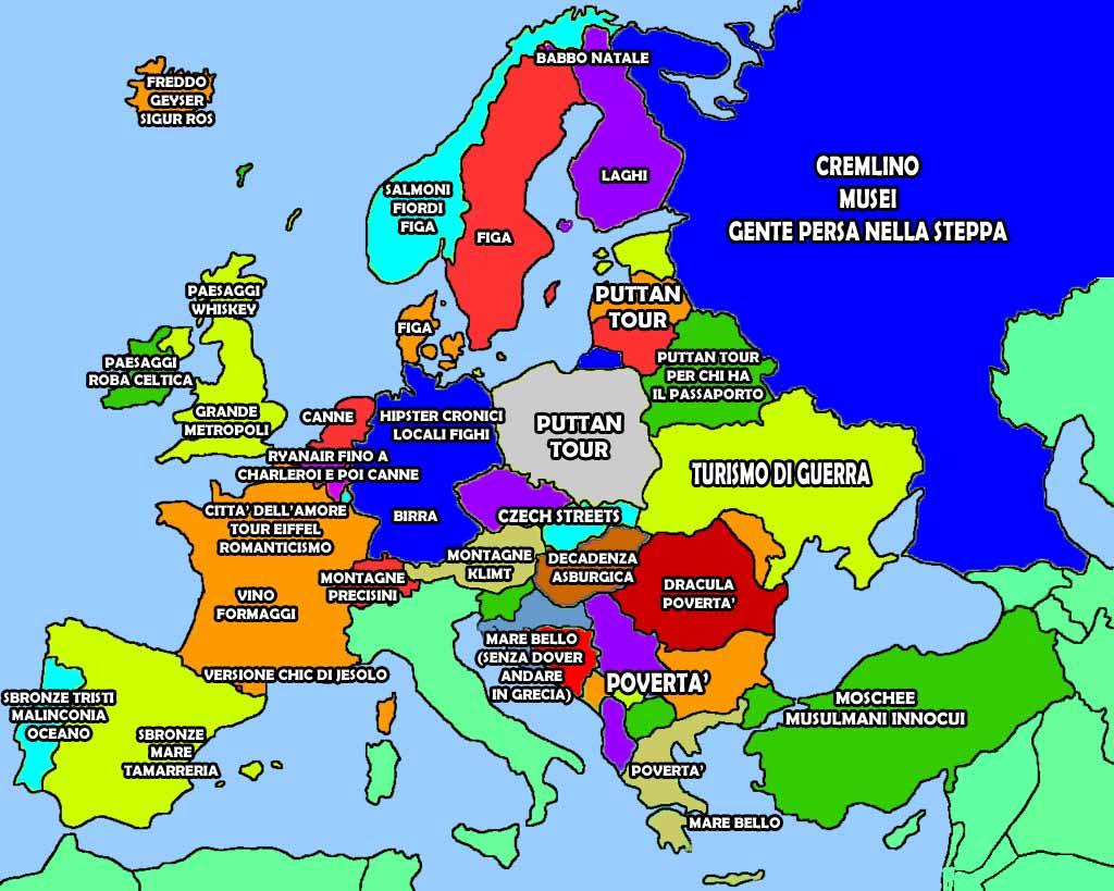 Mappa Delle Vacanze Europee Oltreuomo