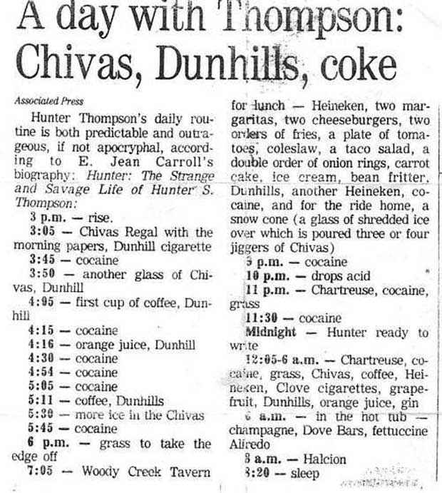 hunter_s_thompson_daily_routine