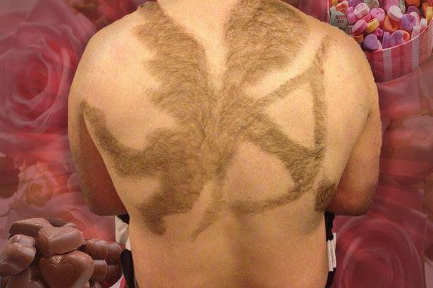 maschio depilato