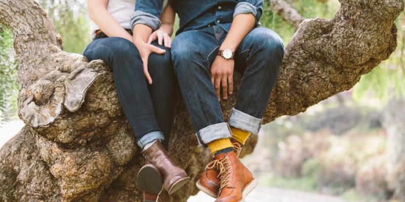 coppie che amano la natura